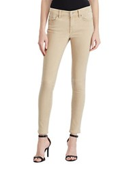 Lauren Ralph Lauren High Rise Cropped Jeans Light Almond