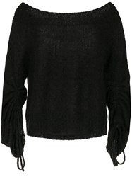 Taylor Boat Neck Jumper Black