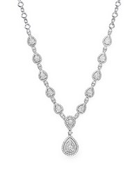 Bloomingdale's Diamond Cluster Teardrop Necklace In 14K White Gold 3.0 Ct. T.W.
