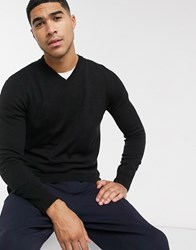 Rudie V Neck Jumper Black