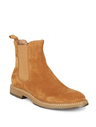 Saks Fifth Avenue Roma Suede Chelsea Boots Tan