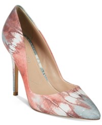 Charles By Charles David Pact Leather Pumps Women's Shoes Pink Tye Die