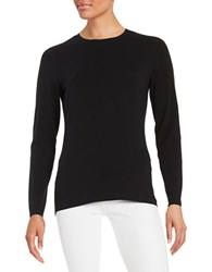 Lord And Taylor Petite Iconic Fit Long Sleeve T Shirt Black