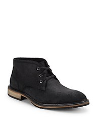 Andrew Marc New York Woodside Leather Chukka Boots Black