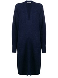 Mes Demoiselles Relaxed Long Cardigan Blue