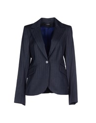 Sinequanone Suits And Jackets Blazers Women Dark Blue