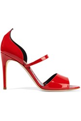 Rupert Sanderson Ophelia Patent Leather Sandals Red