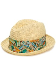 Jacob Cohen Woven Trilby Hat Nude And Neutrals