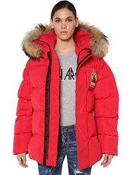 Dsquared Mountain Taffeta Down Jacket Red