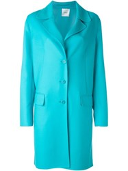 Agnona Single Breasted Coat Blue