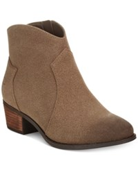 Call It Spring Gwerraviel Faux Suede Ankle Booties Women's Shoes Desert Taupe