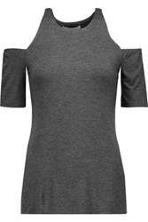 Bailey 44 Talladega Cutout Stretch Jersey Top Dark Gray