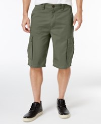 Lrg Men's Rip Stop Cargo Shorts Dusty Olive