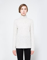 Just Female Zoe Turtleneck In Light Grey