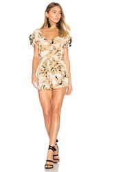 Zulu And Zephyr Sun Valley Playsuit Beige
