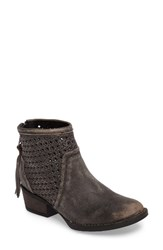 Very Volatile Women's Namaste Bootie Charcoal Leather
