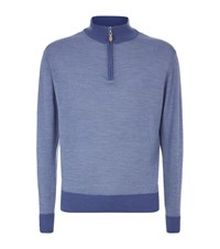 Peter Millar Half Zip Jumper Male Blue
