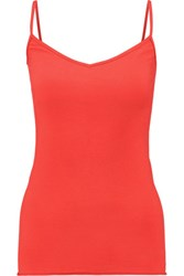 Enza Costa Stretch Cotton Jersey Tank Red