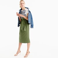 J.Crew Paper Bag Skirt In Twill