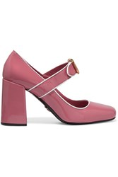 Prada Patent Leather Mary Jane Pumps Baby Pink