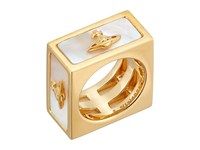 Vivienne Westwood Tomo Ring White Mother Of Pearl Ring