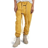 Fear Of God Logo Cotton Terry Jogger Pants Yellow