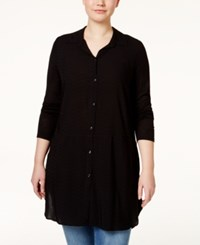 American Rag Plus Size Solid Tunic Shirt Only At Macy's Classic Black