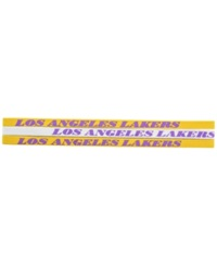 Little Earth Los Angeles Lakers 3 Pack Elastic Headbands Team Color