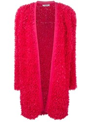 Max Mara Wrap Cardigan Red