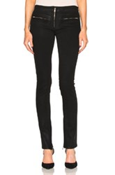 Adaptation Extra Long Zip Front Skinny In Black