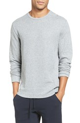 Vince Men's Trim Fit Crewneck Pullover Heather Steel