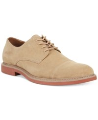 Alfani Owen Casual Lace Up Oxfords Men's Shoes Buff