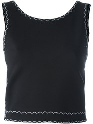 Mcq By Alexander Mcqueen Embroidered Sleeveless Top Black