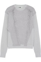Jil Sander Fringed Stretch Cashmere Sweater
