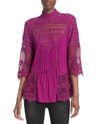 Plenty By Tracy Reese Victorian Blouse Red
