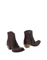 Giancarlo Paoli Ankle Boots Cocoa