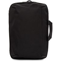 Issey Miyake Black Convertible Toffee Nylon Backpack