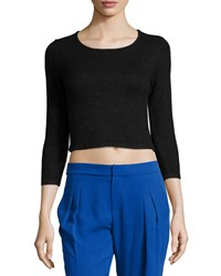 Parker Faro 3 4 Sleeve Crop Top Black