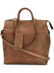 Marsell Top Zip Tote Brown