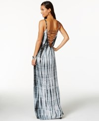 Raviya Printed Lattice Back Maxi Dress Cover Up Women's Swimsuit