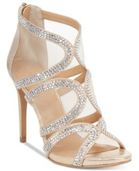 Thalia Sodi Fabiaa Mesh Caged Evening Sandals Only At Macy's Women's Shoes Champagne