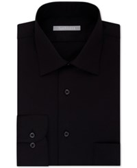 Van Heusen Fitted Lux Sateen Solid Dress Shirt Black