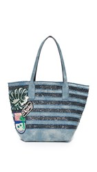 Marc Jacobs Denim Wingman Tote Denim Multi