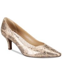 Easy Street Shoes Chiffon Pumps Women's Champagne Snake