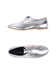 Rosamunda Lace Up Shoes Silver