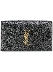 Saint Laurent 'Monogram' Clutch Black