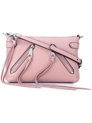 Rebecca Minkoff Long Fringes Crossbody Bag Pink And Purple