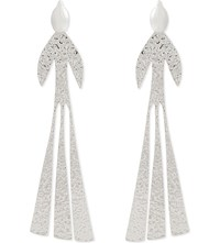 J.W.Anderson Hammered Bird Earrings Silver