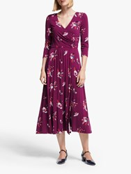 Boden Francesca Jersey Midi Dress Ruby Multi