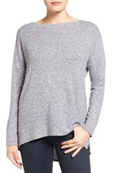 Gibson Women's Cozy Fleece Ballet Neck High Low Pullover